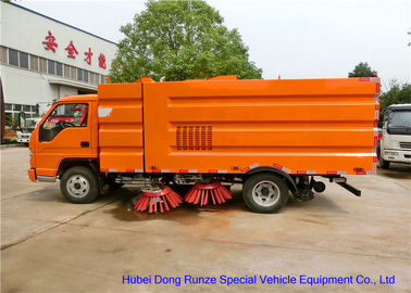 China FORLAND Vacuum Broom Road Sweeper Truck / Small Mobile Street Sweeper distributor