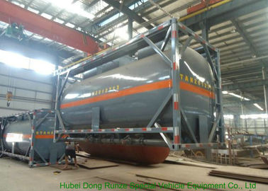 China Insulated ISO Q235 / LDPE 20 Foot Tank Container For Acetic Acid / Acetic Anhydride distributor