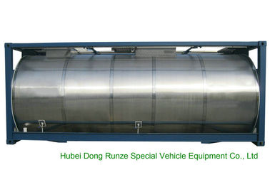 China 316 Stainless Steel ISO Tank Container 20 FT For Wine / Fruit Juices / Vegetable Oils factory