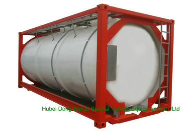 China 316 Stainless Steel 20 FT ISO Bulk Liquid Tank Container For Hazardous Liquids distributor