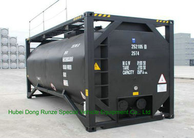 China UN T3 Heating 20 Foot ISO Tank Container For Bitumen / Crude Oil / Low Hazardous Liquids factory