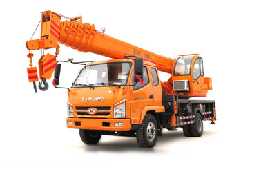 China T.King 10 -12 Ton Hydraulic Truck Crane With 4 Outrigger Telescopic Boom 26M - 36M distributor