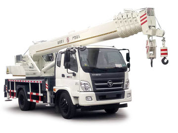 China FOTON Lifting Material Truck Mounted Crane 10-16 Ton , Full Hydraulic Truck Crane distributor