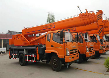 China 6 -8 Ton Hydraulic Truck Mounted Crane With 4 OutriggerTelescopic Boom 26M - 30M factory
