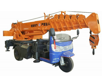 China Small Tricycle Mobile Truck Mounted Hydraulic Crane 3- 5 Ton For Construction distributor