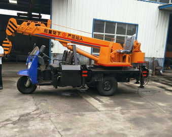 China Tricycle Hydraulic Truck Mounted Crane , 3- 5 Ton Lifting Mobile Truck Crane distributor