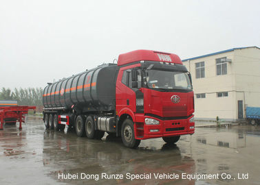 China 30000L -45000L Capacity Chemical Tanker Truck for Fluosilicic Acid / Hexafluorosilicic Acid distributor