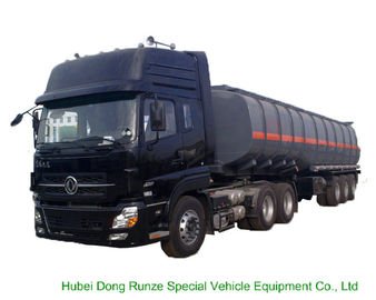 China Tri Axles Caustic Soda Chemical Delivery Truck For 30 - 45MT Sodium Hydroxide distributor