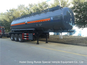 China Hydrochloric Acid Tanker Semi Trailer , Chemical Road Tankers Custom Material distributor