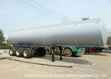 China Steel Lined PE Road Chemical Tank Trailers For Transport Bleach , Hydrochloric Acid distributor
