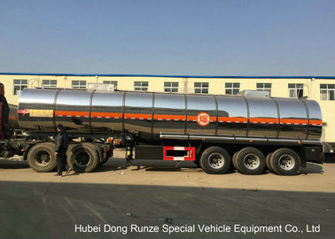 China SS Chemical Tanker Truck For Ammonium Nitrate / Liquid Molten Sulfur Delivery distributor