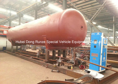 China 50000L LPG Gas Tank Skid Mounted , Propane Gas Tank For Mobile Gas Refilling distributor