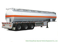SKD 3 Axle Stainless Steel Tanker Semi Trailer For Oil / Diesel / Gasoline / Kerosene