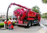 Industrial 16 Cbm Combination Jetting Vacuum Truck / Sewer Cleaning Vehicles