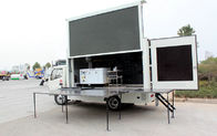Moving LED Display Advertising Truck With Stage Lifting System For Outdoor Showing