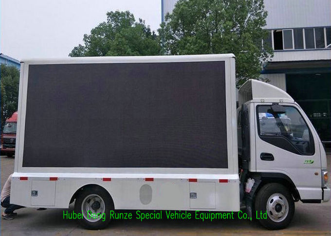 JAC Mobile LED Advertising Truck With Foldable Stage And Screen Lifting System 3840 x 1760mm