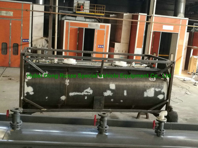 Chemical 20ft Tank Container For High Corrosive Hydrochloric Acid , Sodium Hypochlorite