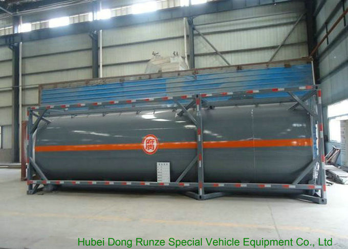PE Lined Steel ISO Tank Container For Sodium Hypochlorite
